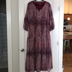 St Johns Bay long sleeved maxi dress
